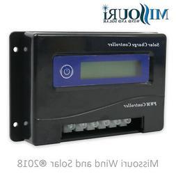 30 Amp 12 / 24 Volt Auto Detect PWM Digital Solar Panel Char
