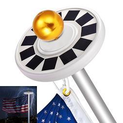 Sunix 30 LED Solar Flag Pole Lights, IP65 Weatherproof Flagp