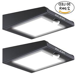 2 Pack 30 LED Solar Lights, Mulcolor Solar Solar Powered Sec