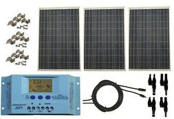 300 Watt 300W Solar Panel Kit with LCD Solar Controller 12V