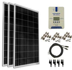 WindyNation 300 Watt   Solar Panel Kit with TrakMax MPPT Con
