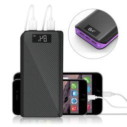 300000mAh 3USB Power Bank Portable LCD LED Battery Charger f