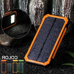 500000mAh Solar Charger Power Bank Portable Dual USB Battery