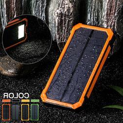 500000mah solar charger power bank portable dual
