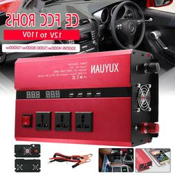 3000W-10000W DC12V To AC110V Car  Power Inverter USB Sine Wa