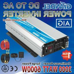 GIANDEL 3000W Power Inverter 12V to 120V with Remote Control