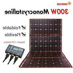 Dokio 300W 12V Flexible Solar Panel Outdoor Foldable Solar p