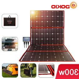 Dokio 300w 12v Portable Foldable Solar Panel Kit For Camping