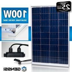 GENSSI® 100W Solar Panel 12V 12 Volt Poly Off Grid Battery