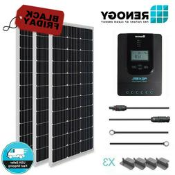 Renogy 300W Watt Solar Panel Starter Kit MPPT Charge Control