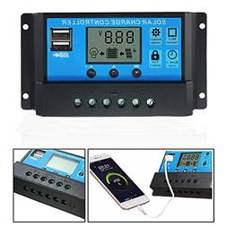 30A 12V/24V Solar Panel Charger Controller Battery Regulator