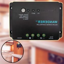 30A 12V PWM Negative Ground Solar Charge Controller Lithium