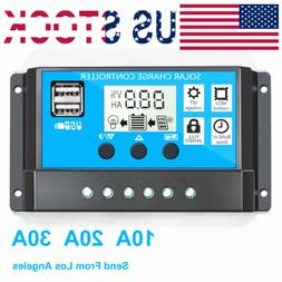 30A 20A 10A Solar Panel Controller Battery Charge Regulator
