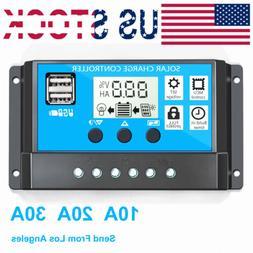 30a 20a 10a solar panel controller battery
