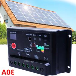 30A AMP PWM PV Solar Charge Controller W/ CE 12Volt Solar Pa