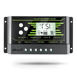 PowMr 30A Solar Charge Controller, Solar Panel Charge Contro