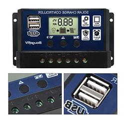 BougeRV 30A Solar Charge Controller Solar Panel Battery Regu