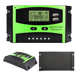 MOHOO 30A Solar Charge Controller Solar Panel Battery Intell