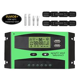 30A Solar Charge Controller, Baoboace Solar Panel Battery I