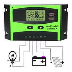 Aunifun 30A Solar Charge Controller Panel Regulator for Sola