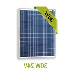 Newpowa 30w 24v solar pane RV marine 30W**For 24V only**