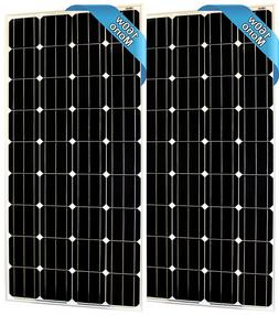320 Watt Monocrystalline Kit   2 X 160W 12V Solar Panel High