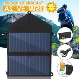 35W Foldable Solar Panel Charger DC5V USB Folding Power Bank