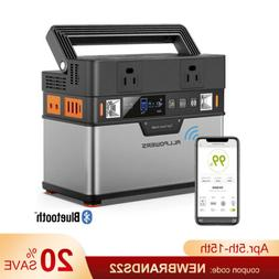 372wh qi solar portable power station portable