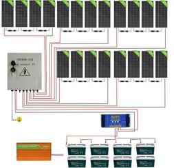 4KW 2KW 48V Complete Off Grid Solar Panel Kit:200W Solar Pan