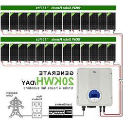 3kw 4kw 5kw grid tie solar panel