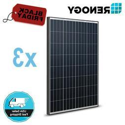 3Pcs Renogy 100W Watt 12V Volt 300W Mono Solar Panel  PV Pow