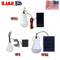 3W 15W 20W Portable Solar Panel LED Powered Lights Bulb Ligh