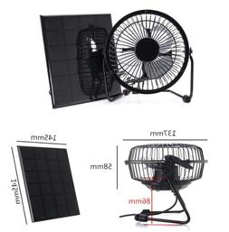 3W 6V Solar Panel Powered Fan for Camping Caravan Yacht Gree
