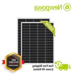 Newpowa 2-100W 200W Watt Monocrystalline Solar Panel Off Gri
