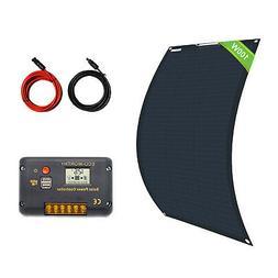 100W 12V Bendable Flexible Mono Solar Panel & 15A Controller