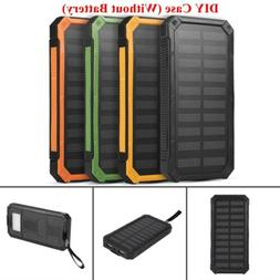 4 Colors Dual-USB Waterproof Solar Power Bank External Batte