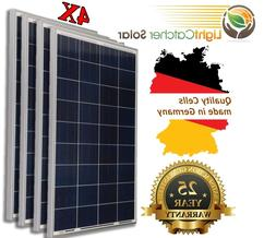100W Watts 100 Watt  Solar Panel Off Grid 12 Volt 12V RV Bo