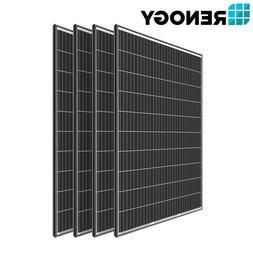 4 PCS Renogy 320W 300W Watts Mono Solar Panel 1200W 24V 48V