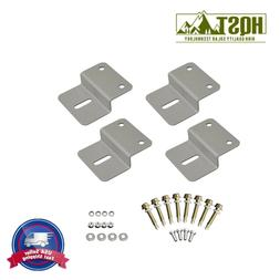 HQST 4 PCS Z Brackets Bracket HQST Solar Panel Mounting Moun