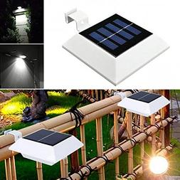 Svitlife 5M 0.2W 4 LED Solar Power Lamp Sensor Light White &