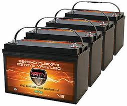4 VMAX SLR125 AGM VRLA Deep Cycle BATTERIES  for RENOGY SOLA