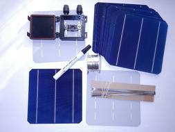 40 High Efficient MONO solar cells kit DIY solar panels, wir