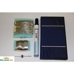 80 Prime Solar Cell DIY Kit with Solar Tabbing, Bus, Flux an