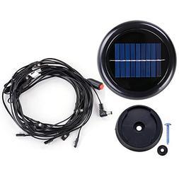 40 LED Warm White Solar Light Fit 8-Rib 8ft 9ft Wooden Outdo