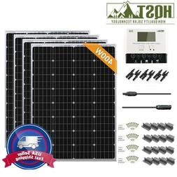 400 Watt Mono Solar Panel Kit 400W 12V RV Boat Off Grid Batt