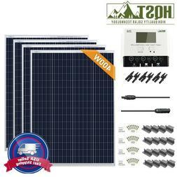 HQST 400W Watt Poly Solar Panel Starter Kit with 30A PWM W/L