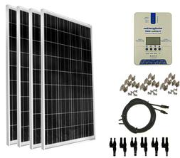 WindyNation 400 Watt   Solar Panel Kit with TrakMax MPPT Con