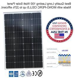 400 Watt Mono-PERC Solar Panels, 4# 100 watt, RV, Cabin, 12