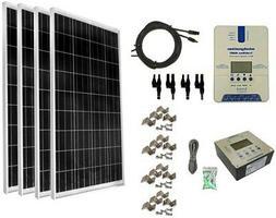WindyNation 400-Watt Off-Grid Polycrystalline Solar Panel Ki
