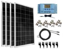 WindyNation 400 Watt Solar Kit: 4pcs 100 Panels + 30A P30L L